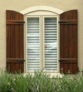 Custom exterior shutters home decorative hardware shutter america our custom shutters for Hardware for exterior shutters